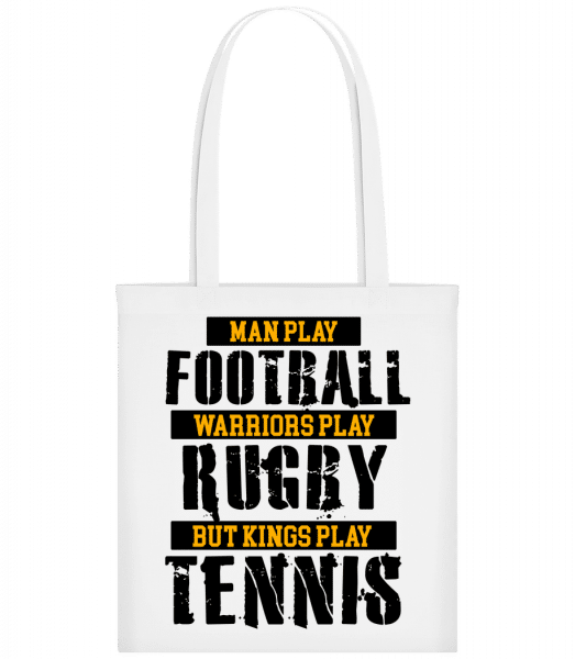 Kings Play Tennis - Carrier Bag - White - Vorn