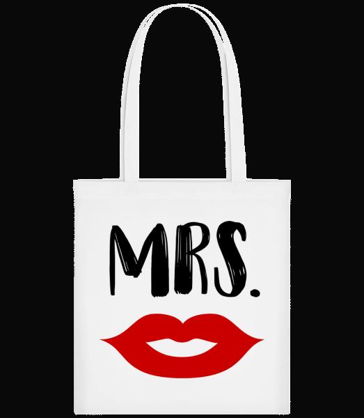 Mrs. - Carrier Bag - White - Vorn