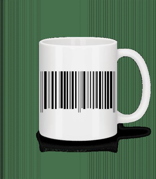 Barcode - Tasse - Weiß - Vorn