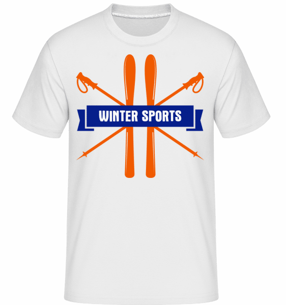 Winter Sports Sign -  Shirtinator Men's T-Shirt - White - Vorn