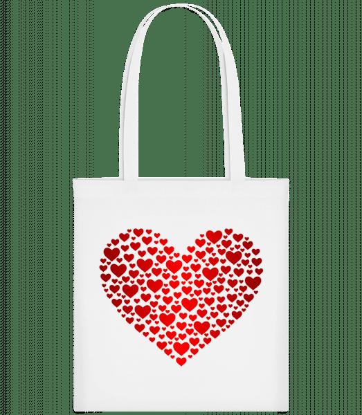 Hearts - Carrier Bag - White - Vorn