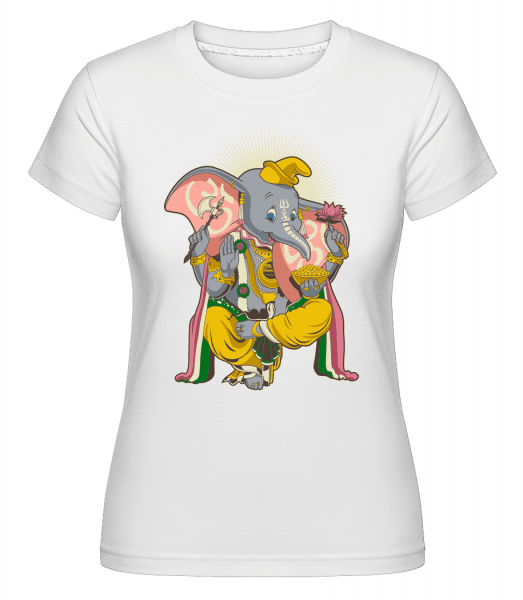Little Ganesh -  Shirtinator Women's T-Shirt - White - Vorn