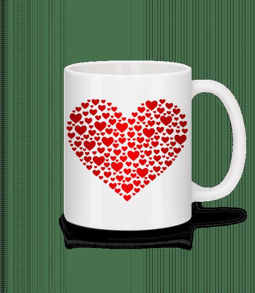 Hearts - Mug - White - Vorn