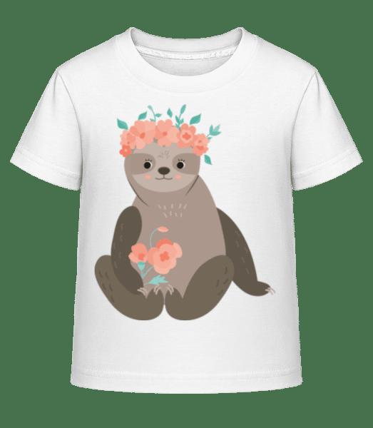 Indolence Avec Des Fleurs - T-shirt shirtinator Enfant - Blanc - Vorn