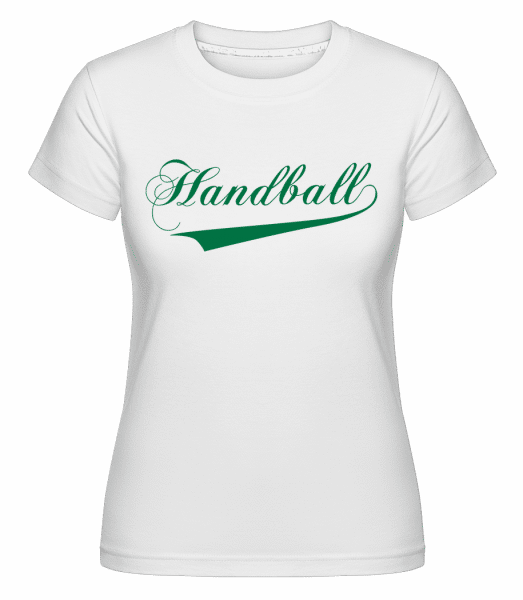Handball Stroke -  Shirtinator Women's T-Shirt - White - Vorn