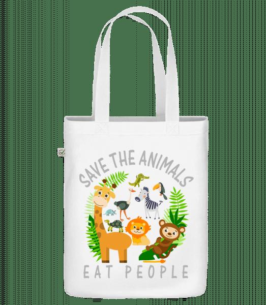Save The Animals - Bio Tasche - Weiß - Vorn