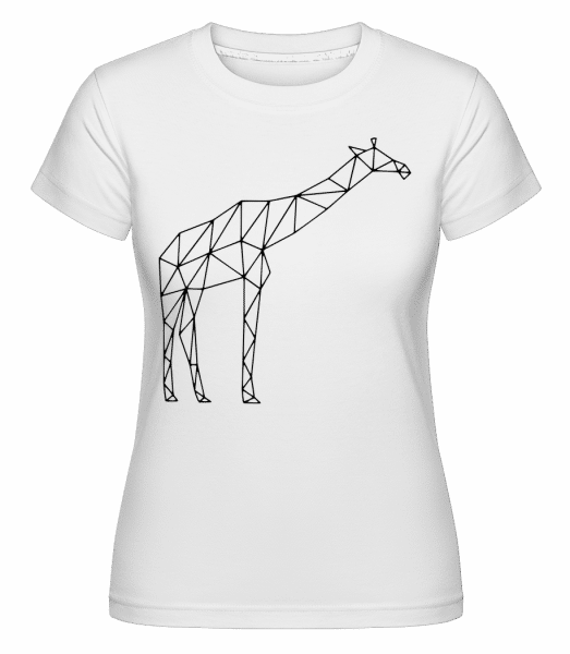 Polygon Giraffe -  Shirtinator Women's T-Shirt - White - Vorn