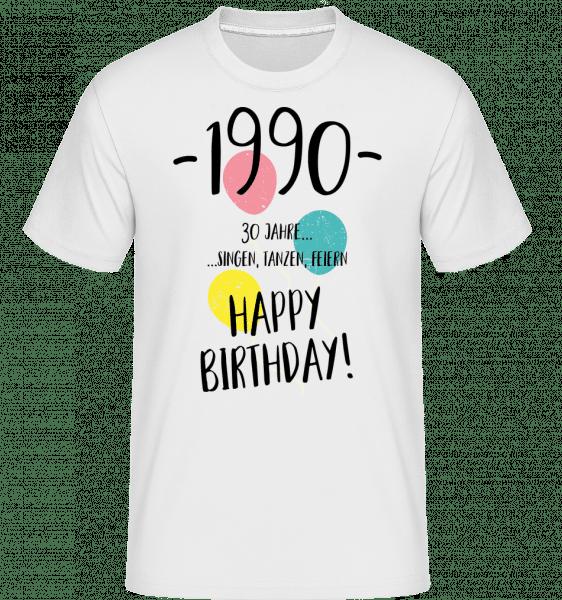 1990 30 years -  Shirtinator Men's T-Shirt - White - Vorn