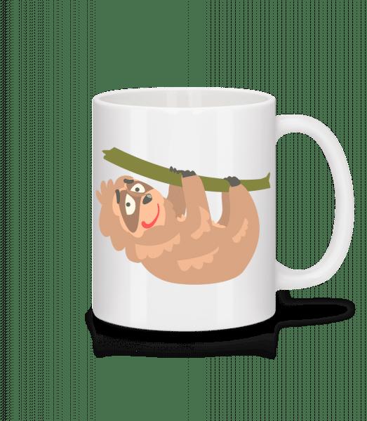 Relaxing Sloth - Mug - White - Vorn