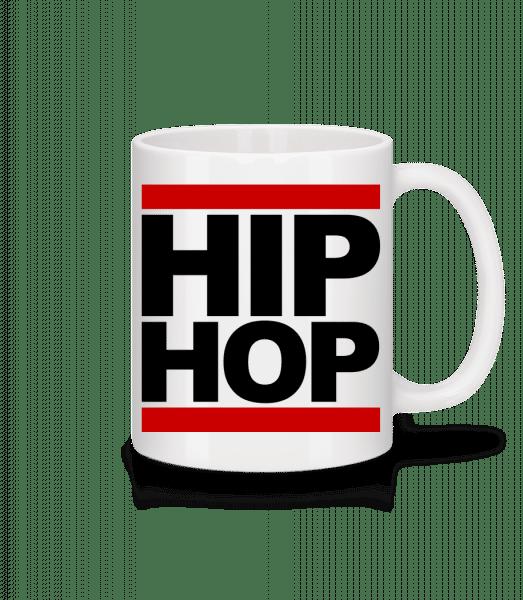 Hip Hop Logo - Tasse - Weiß - Vorn