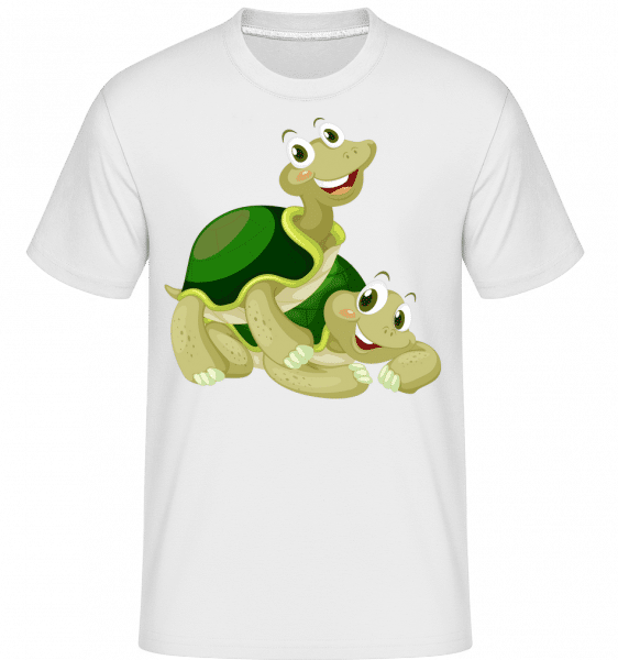 Happy Turtles -  Shirtinator Men's T-Shirt - White - Vorn