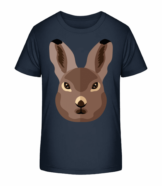Bunny Comic Shadow - Kid's Premium Bio T-Shirt - Navy - Vorn