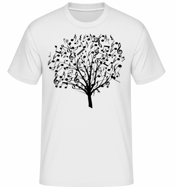 Music Tree -  Shirtinator Men's T-Shirt - White - Vorn