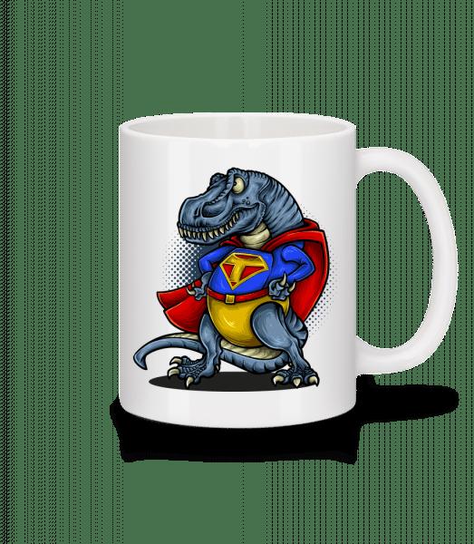 Super T-Rex - Keramický hrnek - Bílá - Napřed