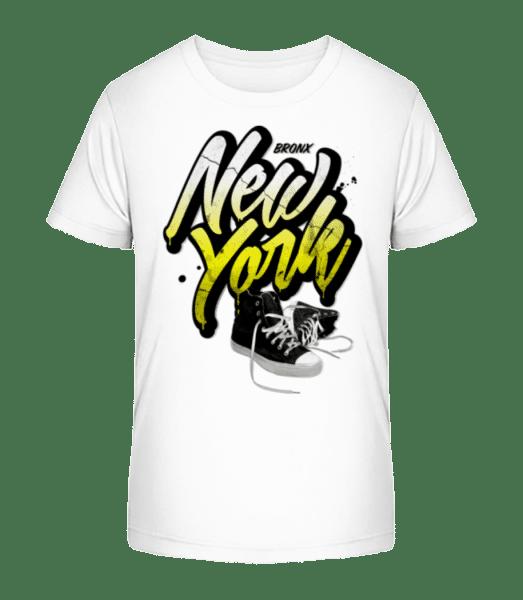 Bronx New York - Detské Premium Bio tričko - Biela - Predné