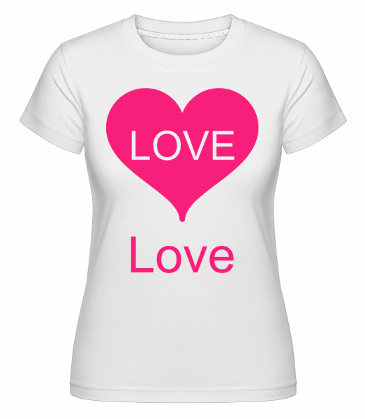 Love Heart -  Shirtinator tričko pre dámy - Biela - Predné
