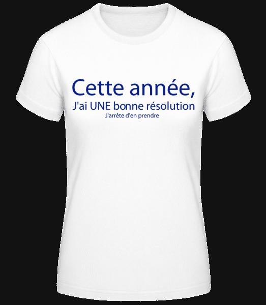 Cette Année - T-shirt standard Femme - Blanc - Vorn
