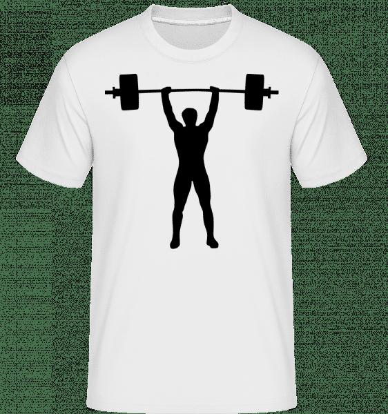 Weightlifter -  Shirtinator Men's T-Shirt - White - Front