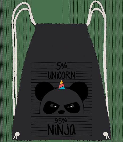 5% Unicorn 95% Ninja - Drawstring Backpack - Black - Vorn