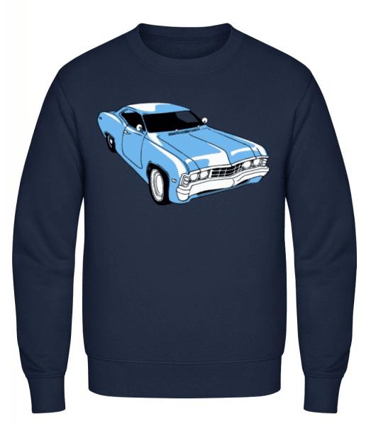 Car Comic - Men's Sweatshirt - Navy - Front