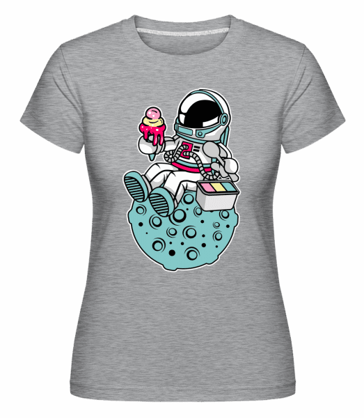Astronaut Ice Cream -  Shirtinator Women's T-Shirt - Heather grey - Vorn