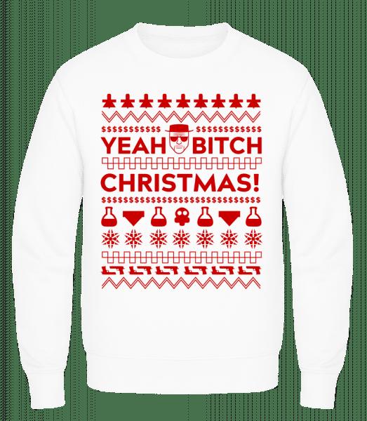 Yeah Bitch Christmas - Men's Sweatshirt AWDis - White - Vorn