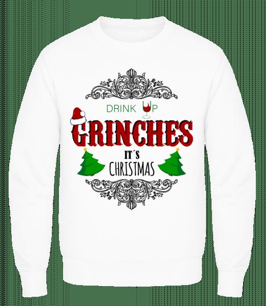 Drink up Grinches - Men's Sweatshirt AWDis - White - Vorn