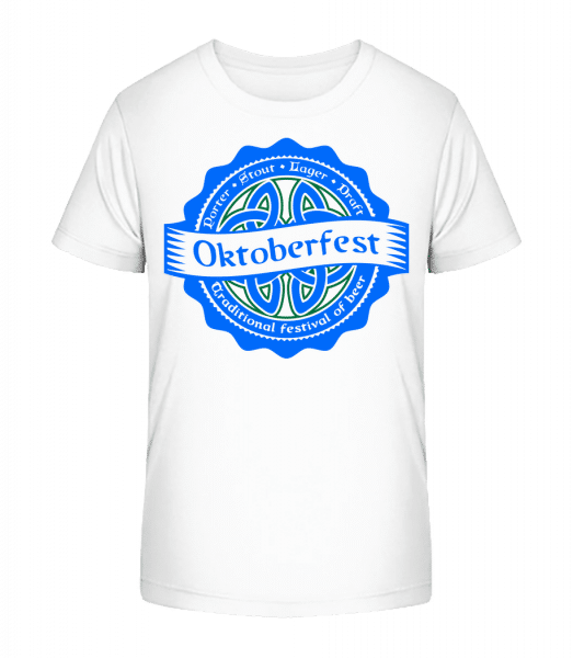 Traditional Festival Of Beer - Kid's Premium Bio T-Shirt - White - Front