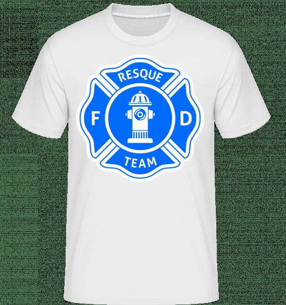 Resque Team -  Shirtinator tričko pro pány - Bílá - Napřed