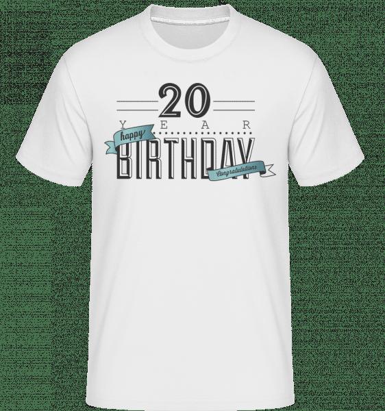 20 Birthday Sign -  Shirtinator Men's T-Shirt - White - Vorn