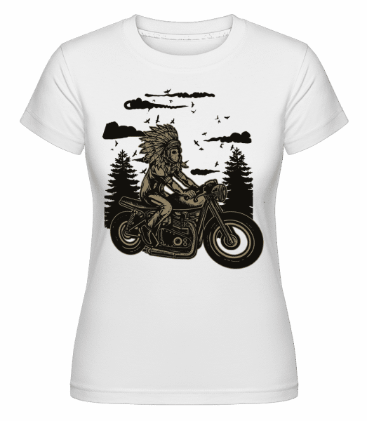 Indian Chief Rider -  Shirtinator Women's T-Shirt - White - Vorn