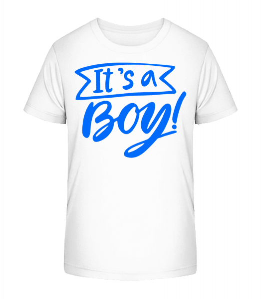 It´s A Boy - Kid's Premium Bio T-Shirt - White - Vorn