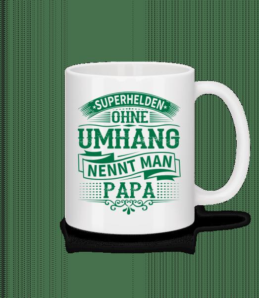 Superhelden Nennt Man Papa - Tasse - Weiß - Vorn