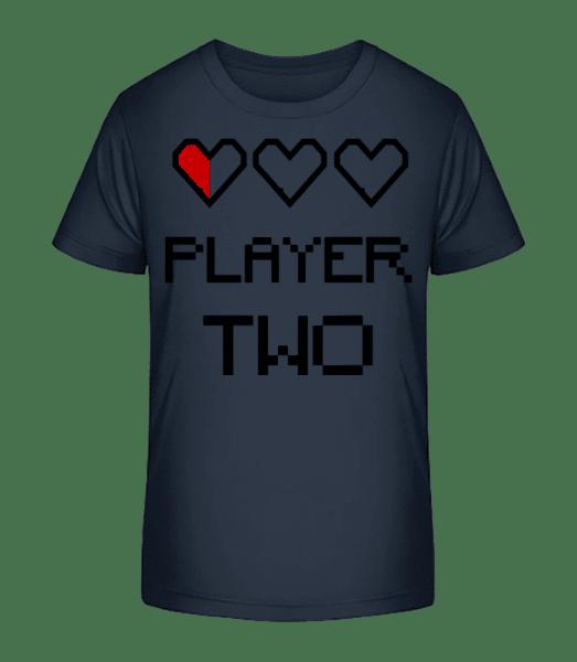 Player Two - Kid's Premium Bio T-Shirt - Navy - Vorn