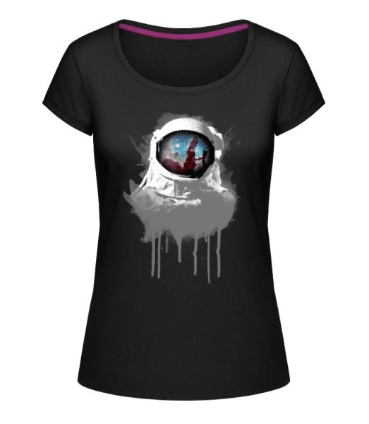 Astronaut - Women's U-Neck T-Shirt - Black - Front