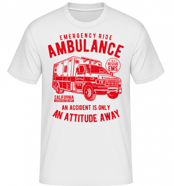 Ambulance -  Shirtinator Men's T-Shirt - White - Front