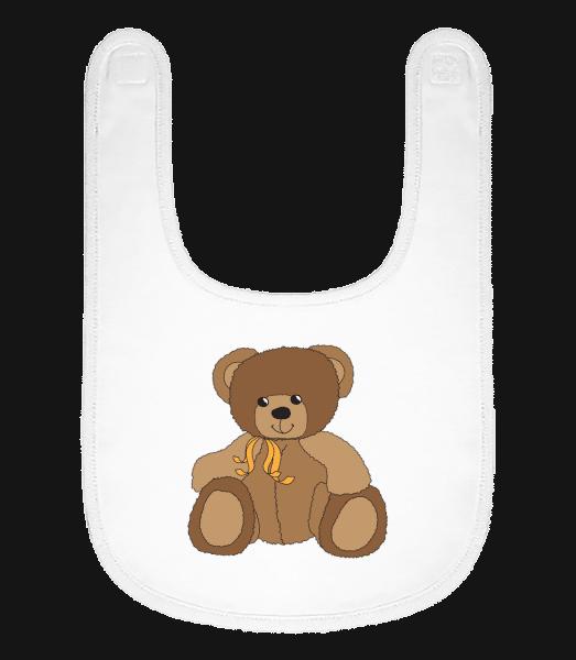 Baby Comic - Bear - Baby Bib - White - Vorn