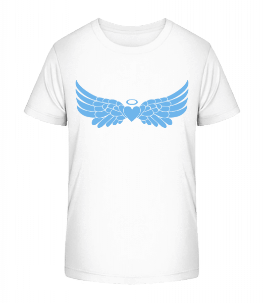 Angel Heart With Wings - Kid's Premium Bio T-Shirt - White - Vorn