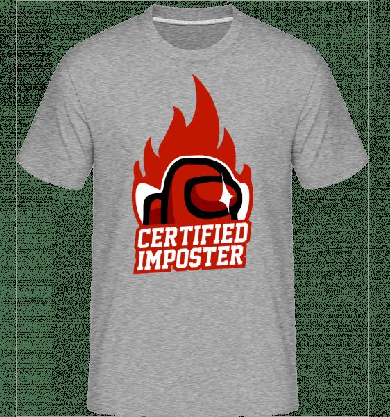 Certified Imposter Among Us -  Shirtinator Men's T-Shirt - Heather grey - Vorn