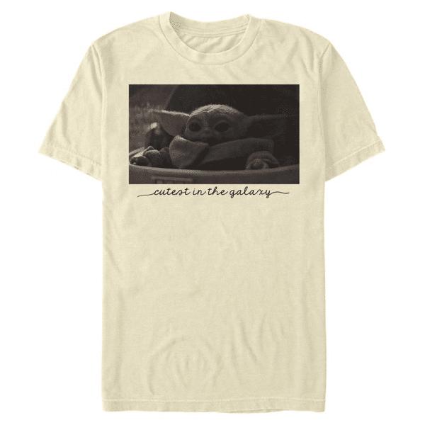 Cutest Photo The Child - Star Wars Mandalorian - Men's T-Shirt - Cream - Front