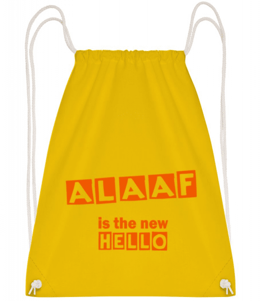 Alaaf Is The New Hello - Gym bag - Yellow - Front