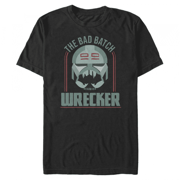 Bad Batch Badge Wrecker - Star Wars Clone Wars - Men's T-Shirt - Black - Front