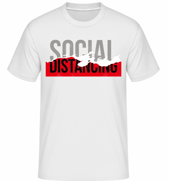 Social Distancing -  Shirtinator Men's T-Shirt - White - Front