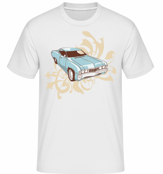 Car Comic -  Shirtinator Men's T-Shirt - White - Vorn