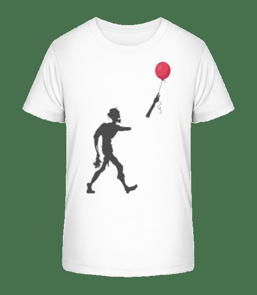 Zombie Balloon - Kid's Premium Bio T-Shirt - White - Vorn
