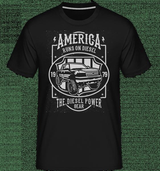 Runs On Diesel -  Shirtinator Men's T-Shirt - Black - Vorn