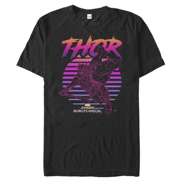 80s Thor - Marvel Thor Ragnarok - Men's T-Shirt - Black - Front