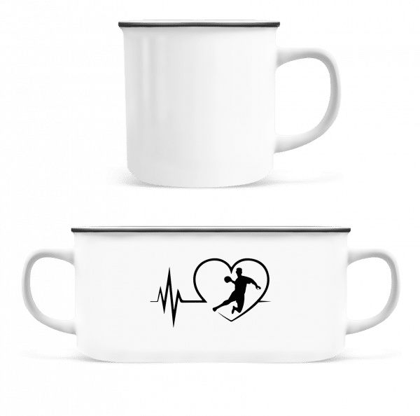 Heart Beat Handball - Enamel-cup - White - Vorn