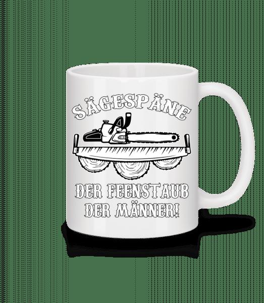 Sägespäne - Tasse - Weiß - Vorn