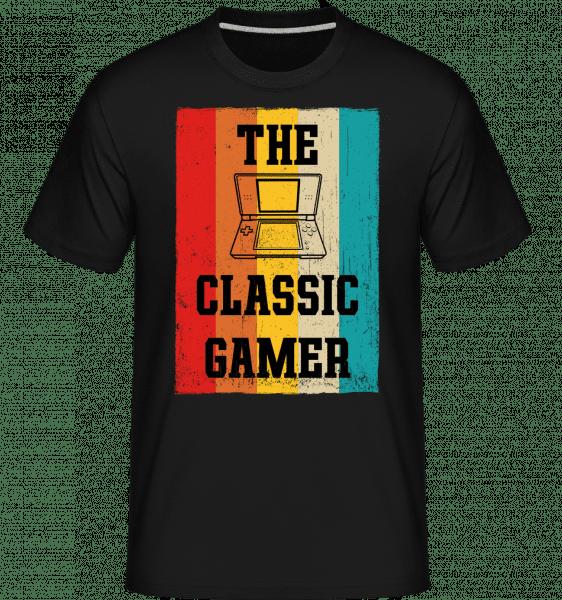 The Classic Gamer -  Shirtinator Men's T-Shirt - Black - Front